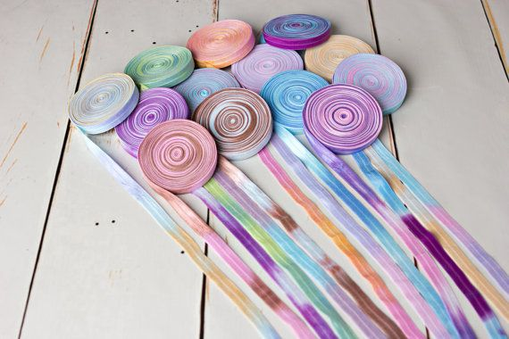 Tie Dye FOE - Tie Dye Fold Over Elastic - Same Pack - 12 Yards on Etsy, $15.00