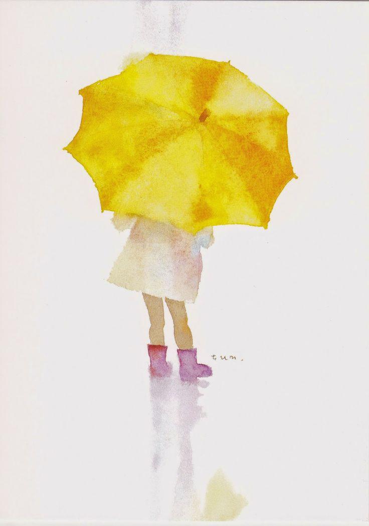 Aquarelle Chihiro Iwasaki (1918-1974) illustratrice japonaise.