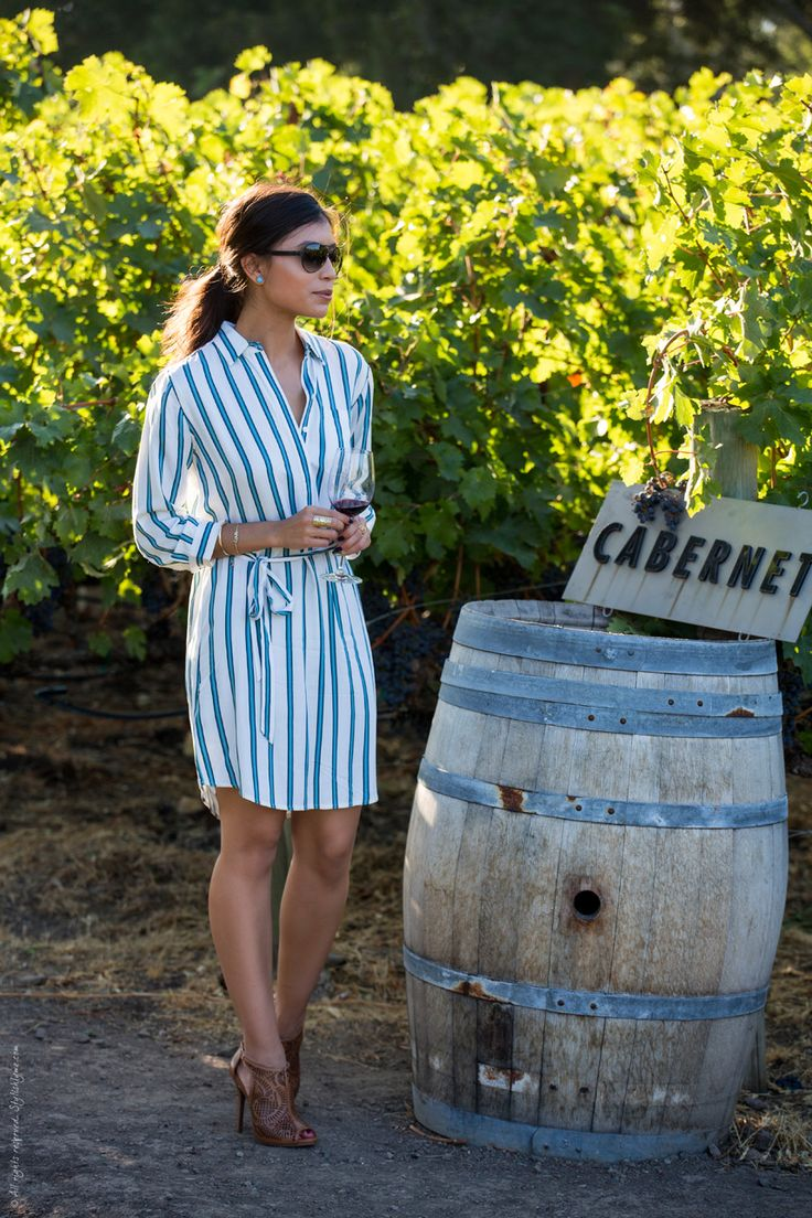 Bloggers We Love: A gorgeous and Classy outfit to wear wine tasting when you add a pair of heels like that.