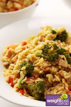 Broccoli and Bacon Pilaf Recipe . #HealthyRecipes #DietRecipes #WeightLoss #WeightlossRecipes weightloss.com.au