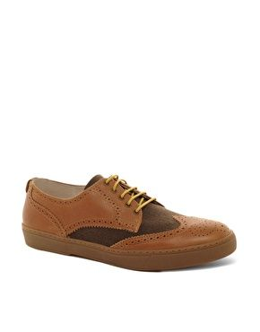 Fred Perry Laurel Wreath Donegan Leather and Wool Brogues