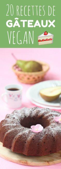Cakes, banana bread, brownies : 20 recettes de gâteaux vegan !