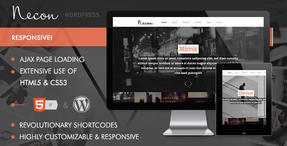 Necon WP - Responsive Onepage theme for creatives - Creative WordPress