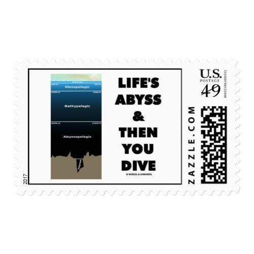 Life's Abyss And Then You Dive (Pelagic Zone) Postage