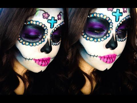▶ Sugar Skull Makeup Tutorial - YouTube