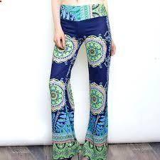 Casual #HighWaistPalazzoTrousers Flare Wide Leg Long Pants Floral Classic Exuma Pant
