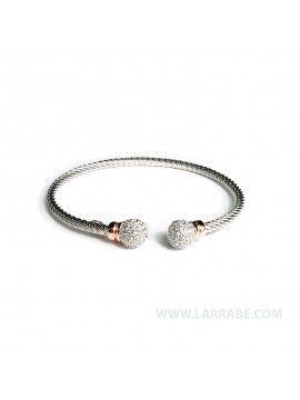 Pulsera de plata y circonitas de joyería Larrabe. #pulsera #joya #joyería #moda #complementos #accesorios #estilo #mujer #femenina