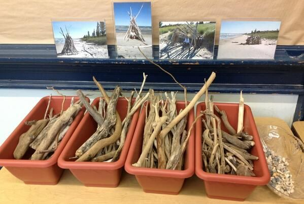Making beach forts in miniature from Nancy @world_of_k