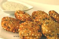 Sabudana Vada: Fried dumplings of sago and potatoes great during fast.