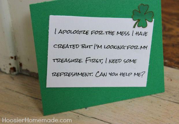 Lucky the Leprechaun Treasure Hunt :: Details on HoosierHomemade.com