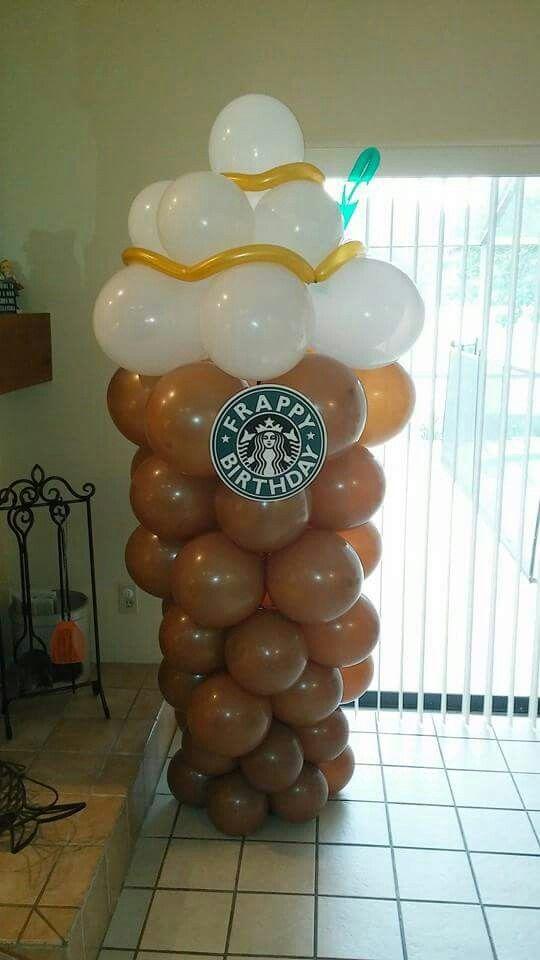 Starbucks balloon column