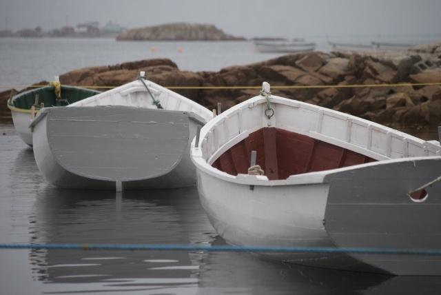 Punt boats floating in Joe Batt's Arm, Fogo Island #newfoundland #travel #discover