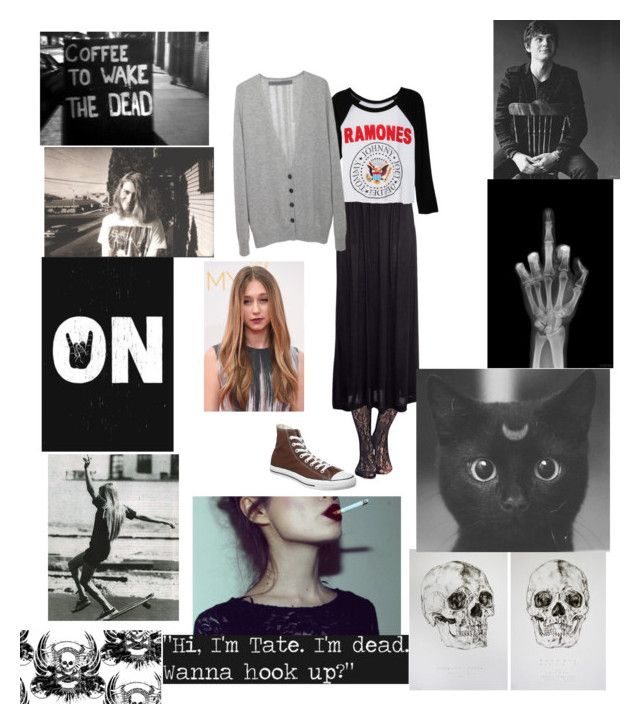 """""""Violet harmon inspired"""" by mickeystarr ❤ liked on Polyvore featuring Wet Seal, H&M, dELiA*s, Raquel Allegra and Converse"""