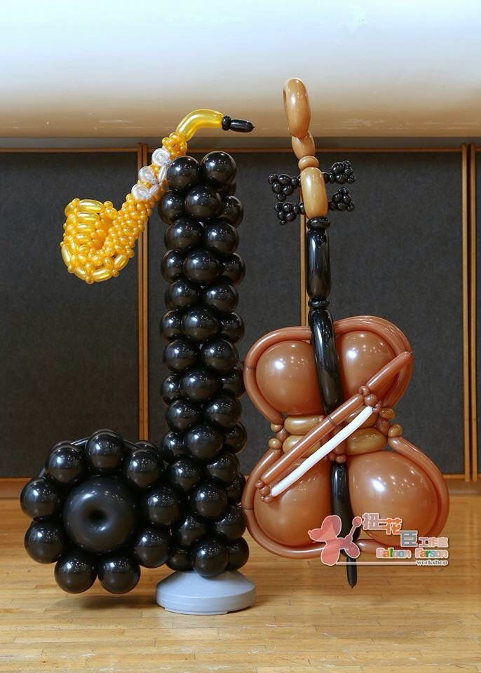 Escultura hecha con globos   -   Sculpture made with balloons   -   Источник интернет
