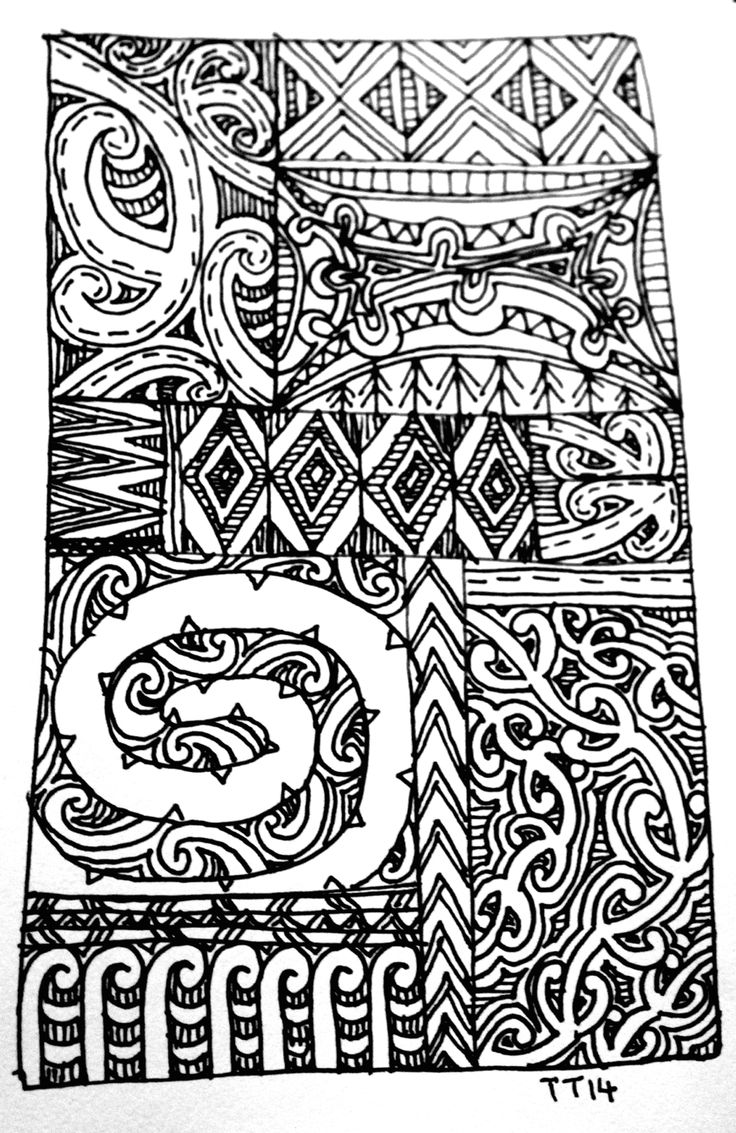 Tawera Tahuri: Line Drawings...