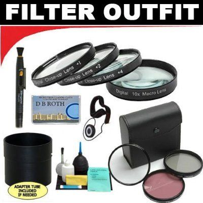 Deluxe 7 Piece Filter Kit Which Includes A +1 +2 +4 +10 Close-Up Macro Filter Set with Pouch + High Resolution 3-piece Filter Set (UV, Fluorescent, Polarizer) + 6-Piece Deluxe Cleaning Kit + Lens Adapter Tube (If Needed) + Lenspen + Lens Cap Keeper + DB ROTH Micro Fiber Cloth For The Nikon Coolpix 5700, 8700 Digital Cameras - http://slrscameras.everythingreviews.net/5491/deluxe-7-piece-filter-kit-which-includes-a-1-2-4-10-close-up-macro-filter-set-with-pouch-high-resolution-3
