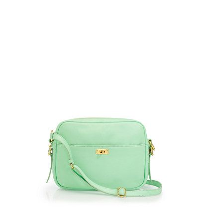 mint leather crossbody / j.crew