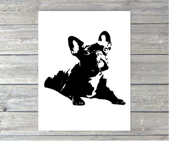 French Bulldog Art Print 8x10 by milkandthistle on Etsy, $19.95