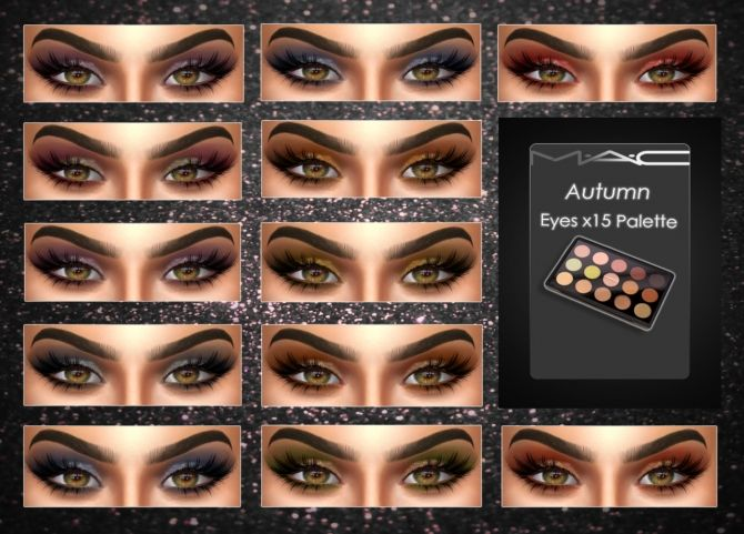 Sims 4 Updates: MAC Cosimetics - Eyes : Autumn Eyes x 15 Palette, Custom Content Download!