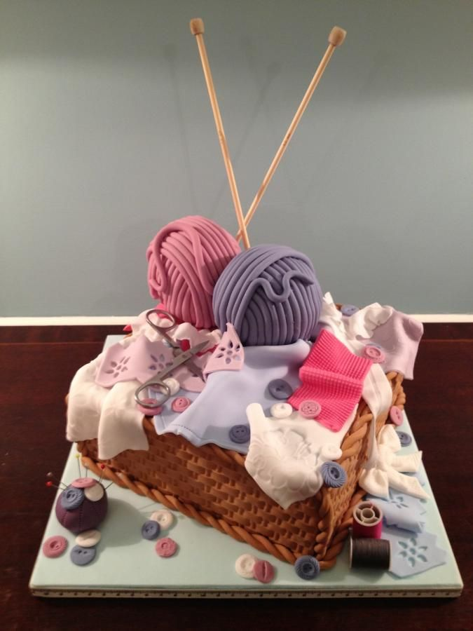 Knitting Cake Decorations : Crafters cake cakes decorating daily