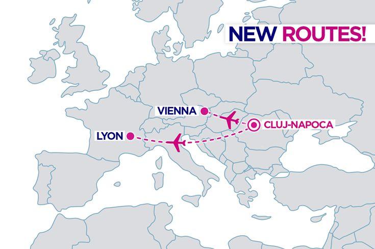 Wizz Air lansează rute noi din Cluj-Napoca: Viena și Lyon!
