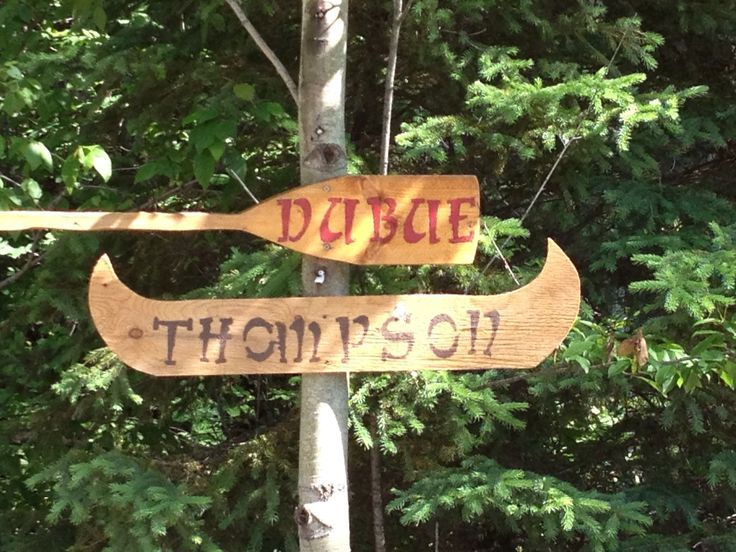 Road signs to cottage