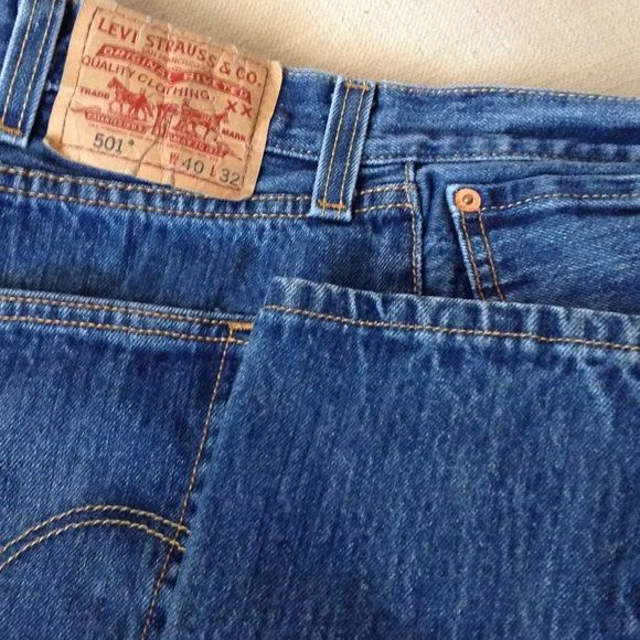 MENS LEVI JEANS NEARLY NEW LEVIS . THESE ARE 501 JEANS BUTTON UP. NOT WORN ANYWHERE. Levi's Jeans Straight Leg