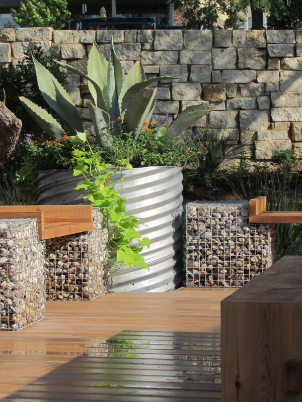 Saw this today on HGTV...cool idea for tables, garden walls and more!