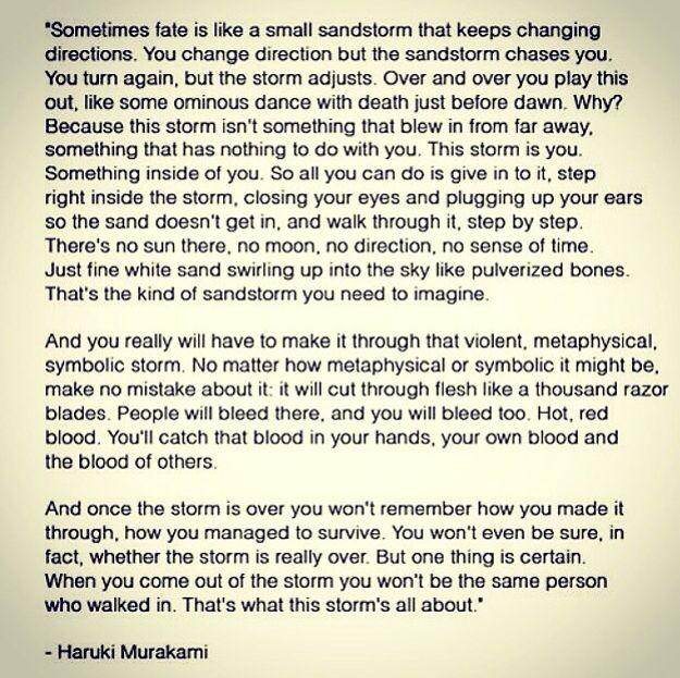 Haruki Murakami Quotes Storm