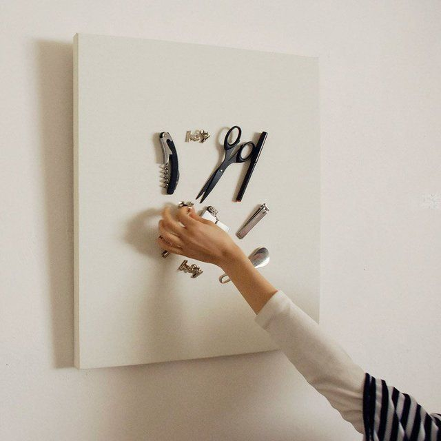 Fun Minimalist Storage Magnetic Canvas Tray   Art Out Of Stuff, Diy Idea.  Wall CanvasCanvas BoardThe ...