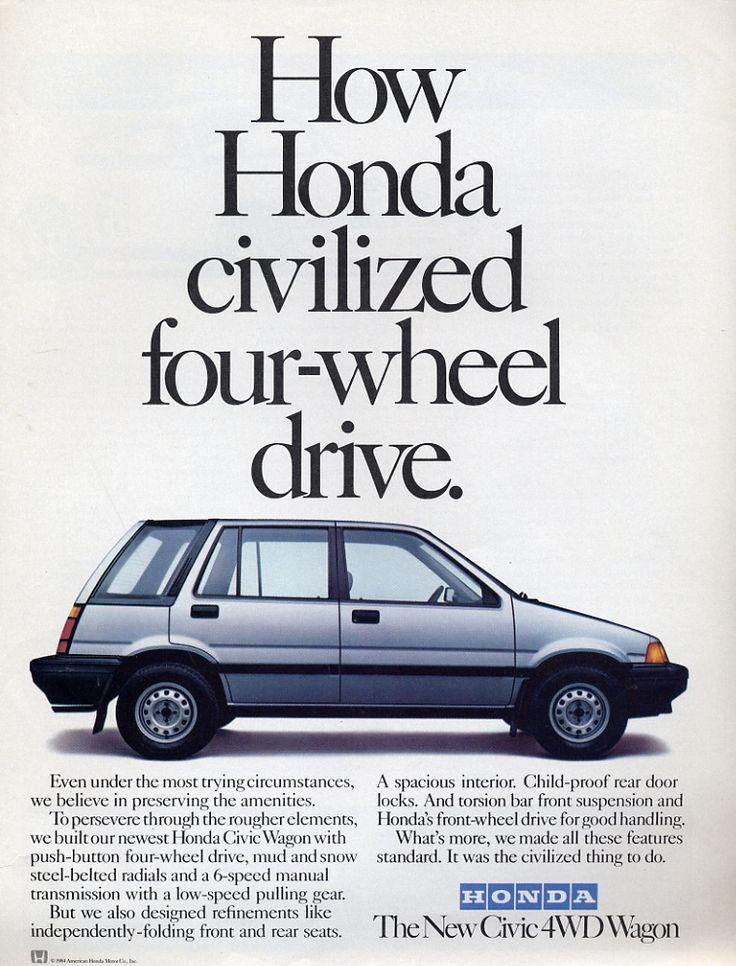 """How Honda civilized four-wheel drive."""