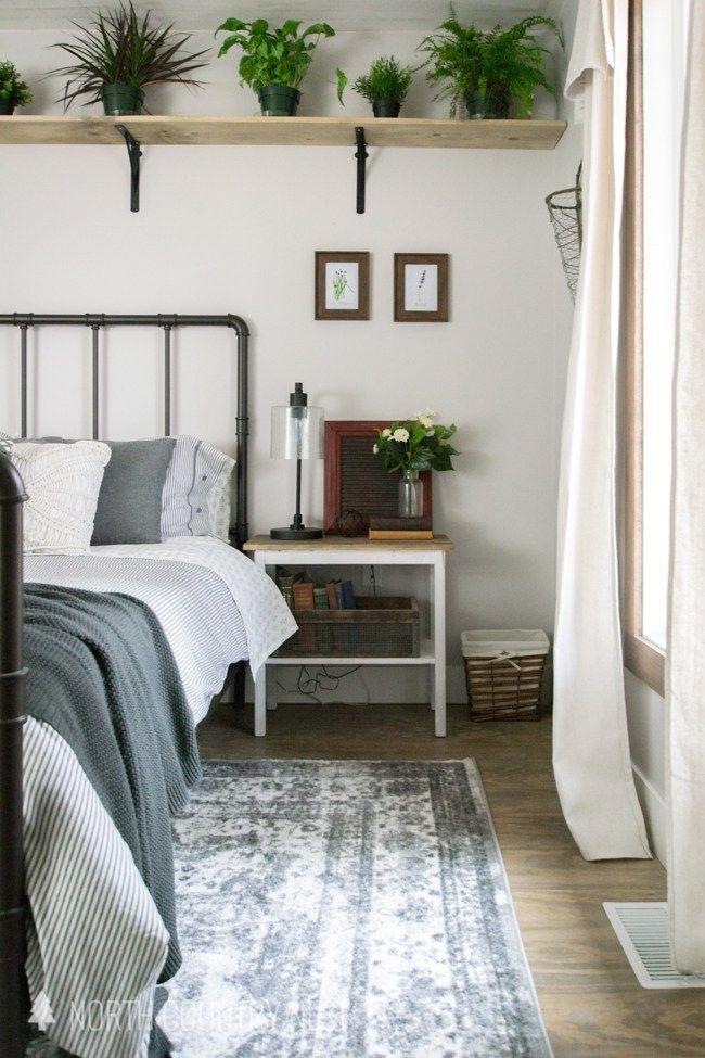 One Room Challenge Week Seven Rustic Industrial Guest Bedroom