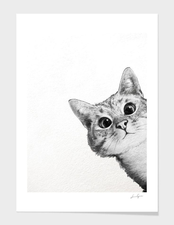 «sneaky Cat» Art Print By Laura Graves In 2019