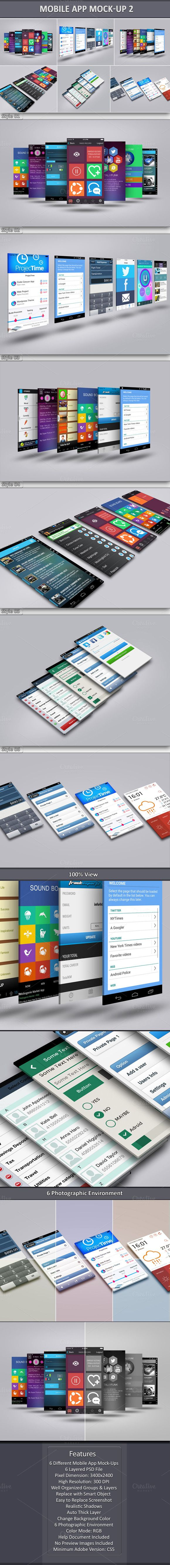 Mobile App Mock-Up 2 by Graphicsworld125 on Creative Market