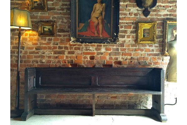 Fabulous Antique Church Pew Settle Bench Victorian 19th Century | Vinterior London  #antique #bench #interior