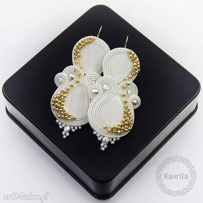 • ręcznie zrobione kolczyki, biżuteria - kolczyki soutache candy