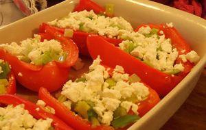 Voedselzandloper uit de oven, opgevulde paprika's!