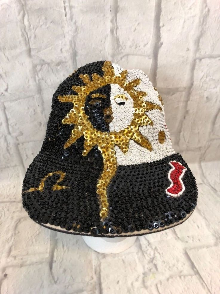 Sequin LADY LUCK Vintage Baseball Cap Hat Red Black White Gold Sun Collectible | Clothing, Shoes & Accessories, Women's Accessories, Hats | eBay!