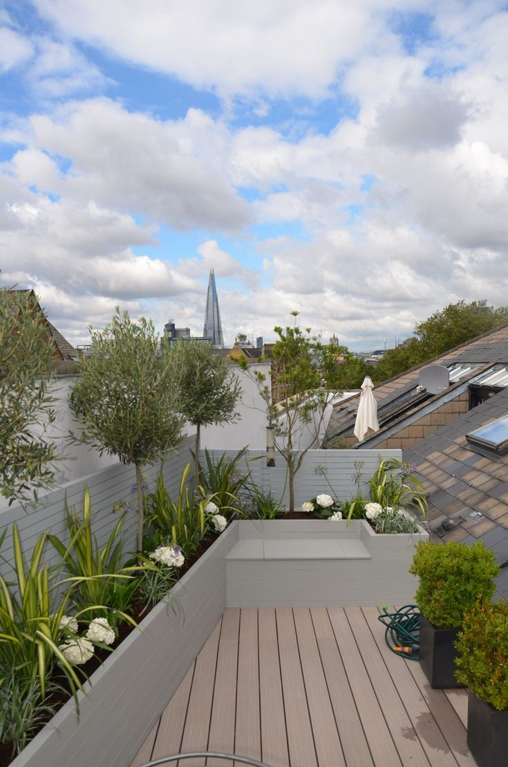 Roof Terrace And Balcony Garden Design Tower Bridge Fulham