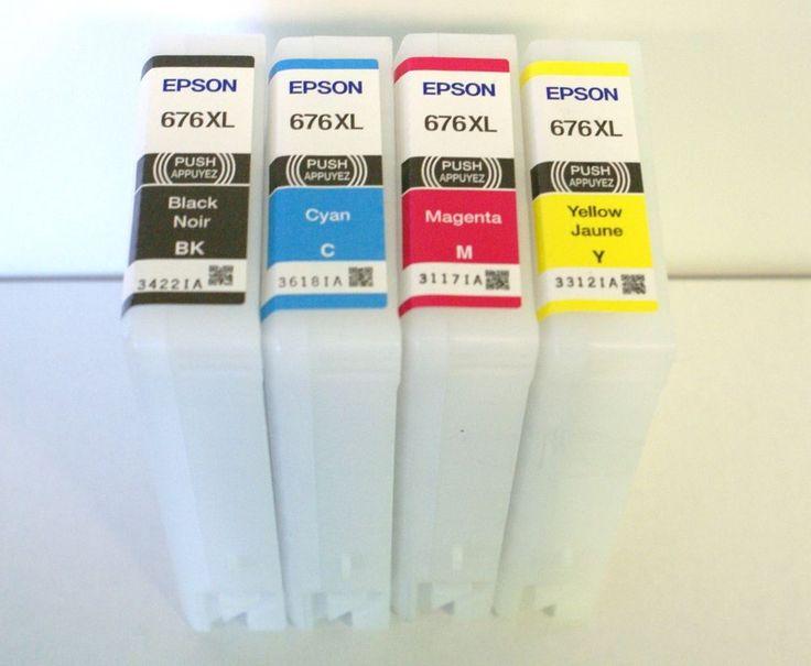 Epson Empty 676xl Ink Cartridges 4 Lot T676xl120 T676xl220 T676xl320 T676xl420 #Epson