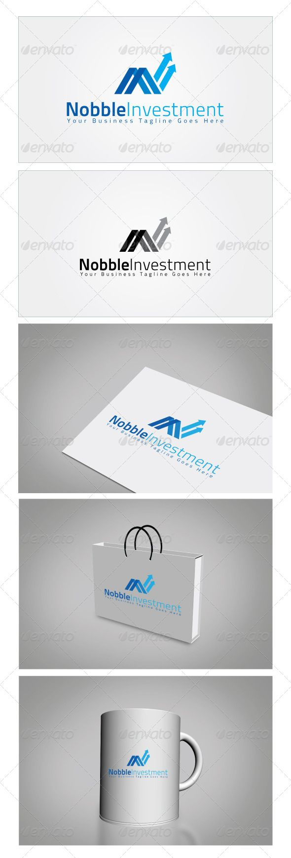 Nobble Investment Logo Template — Photoshop PSD #creative studio #industrial • Available here → https://graphicriver.net/item/nobble-investment-logo-template/6045357?ref=pxcr
