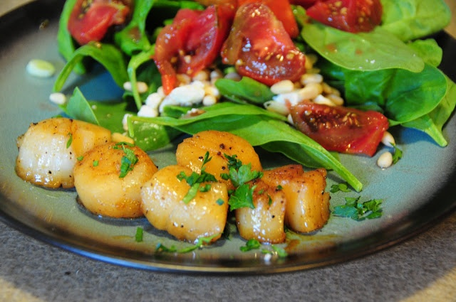 Carmalized Scallops - total time 40 minutes