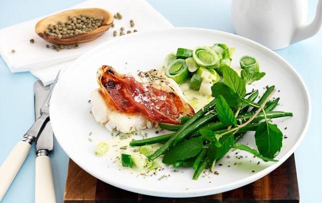 sund Bagt torsk med parma & porrer