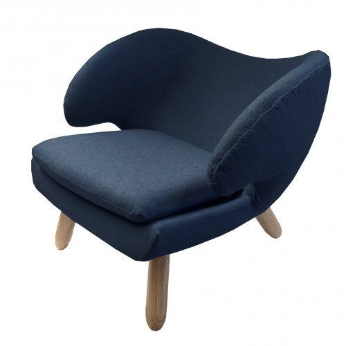CHAIR | Navy Felt Wrap Design By MRD HOME