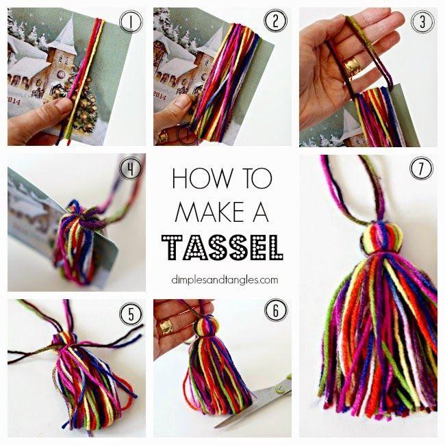 How to make a tassel      DIY tassel tutorial
