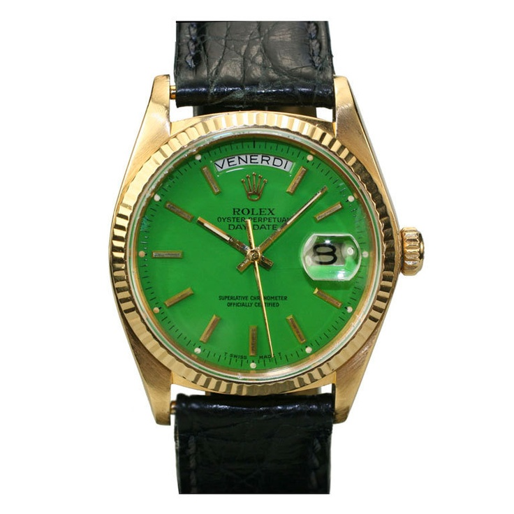 ROLEX Day-Date 'Presidential' Green 'Stella' Dial Ref 18038