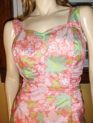 (SOLD) Vintage 60s Perky Pinup Swimsuit Romper Playsuit ROXANNE Perfection Fit Sz 40C