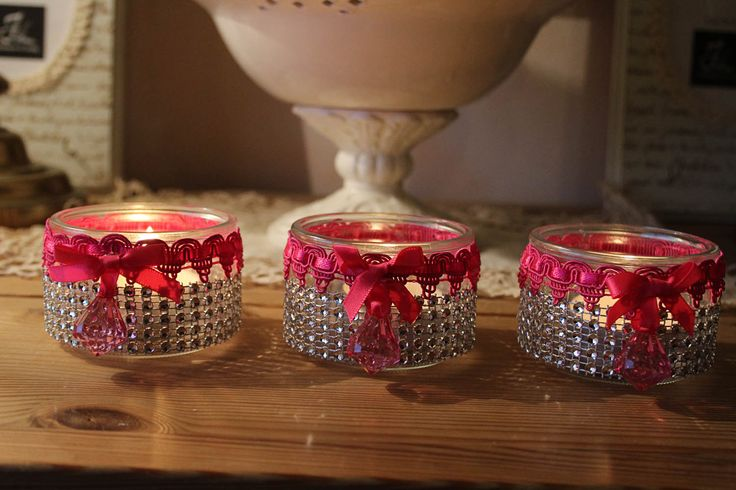 Photophores Girly Ou Comment Recycl Des Pots De Yaourt En Verre N N Pinterest Comment