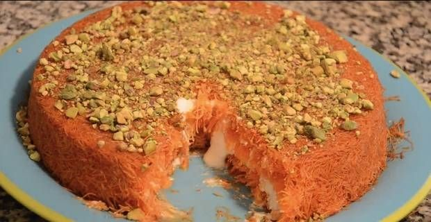 La torta kunafa (dolce arabo)