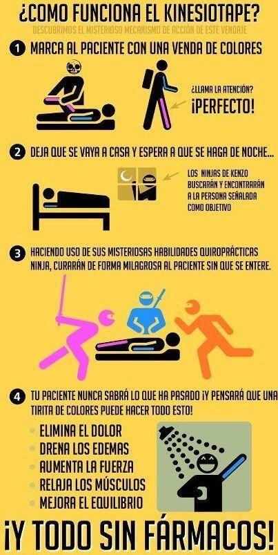 #Humor .... COMO FUNCIONA EL KINESIOTAPE .... Clinica de #fisioterapia y #osteopatia @Fisiobian Clínica de Fisioterapia y Osteopatía Clínica de Fisioterapia y Osteopatía #Torreperogil